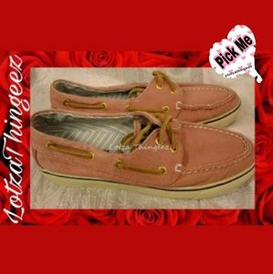 BOGO Sperry Top Sided Pink Deck Boat Shoes 6